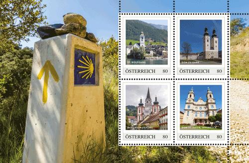 Die bekanntesten Pilgerziele auf Briefmarken