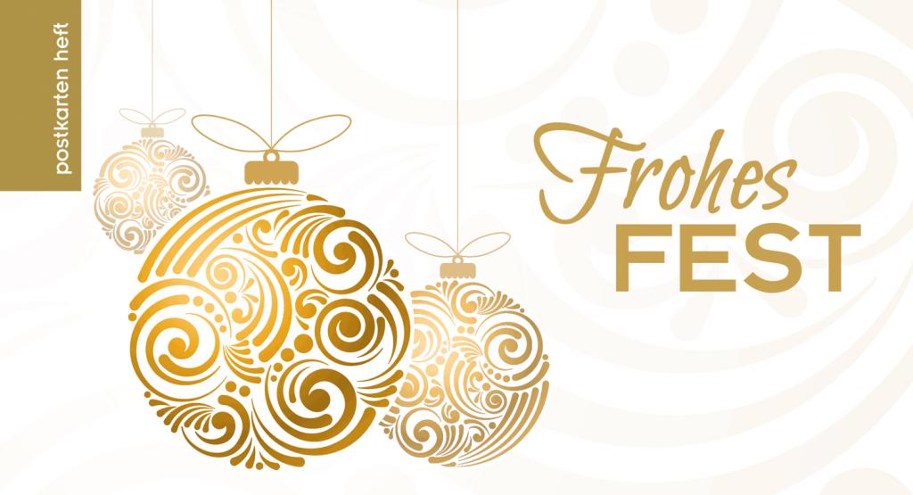 Golden glänzende Briefmarken für Ihre Weihnachtspost