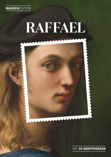 Raffaels Werke auf 20 Briefmarken in einer Markenedition