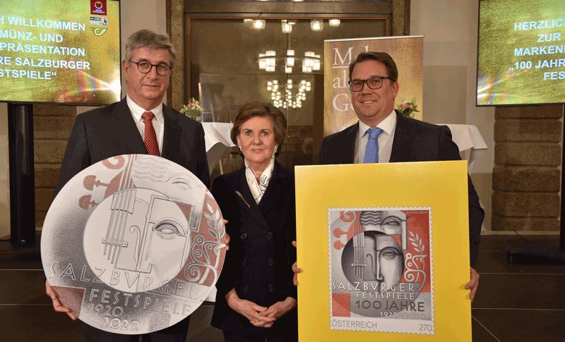 Gerhard Starsich, Helga Rabl-Stadler und Stefan Nemeth (© SF/Anne Zeuner)