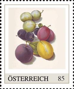 Obstbriefmarke zum Ablecken