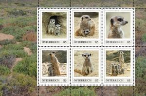 Briefmarken mit Erdmännchen