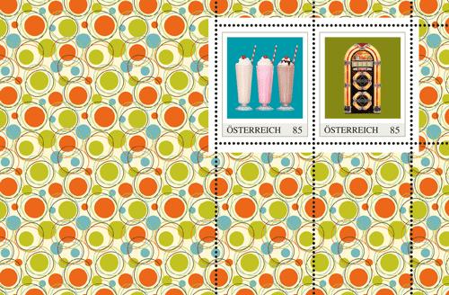 Die 50er - eine Zeitreise auf Briefmarken