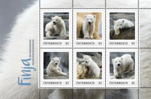Mit sechs Finja-Briefmarken ...