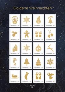 Golden glänzende Briefmarken