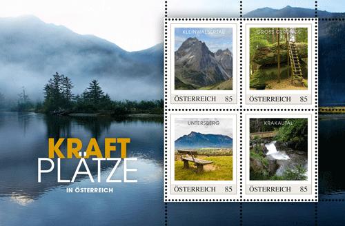 Kraftplätze auf Briefmarken
