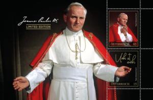 Exklusives Markenblatt Johannes Paul II.