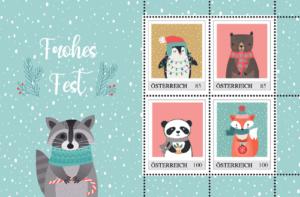 Lustige Weihnachtsbriefmarken