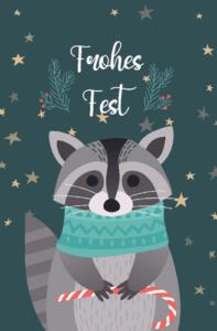 Tiere in Weihnachtsstimmung